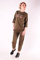 Женский спортивный костюм  погулочный  Хаки размеры 40-46 XS