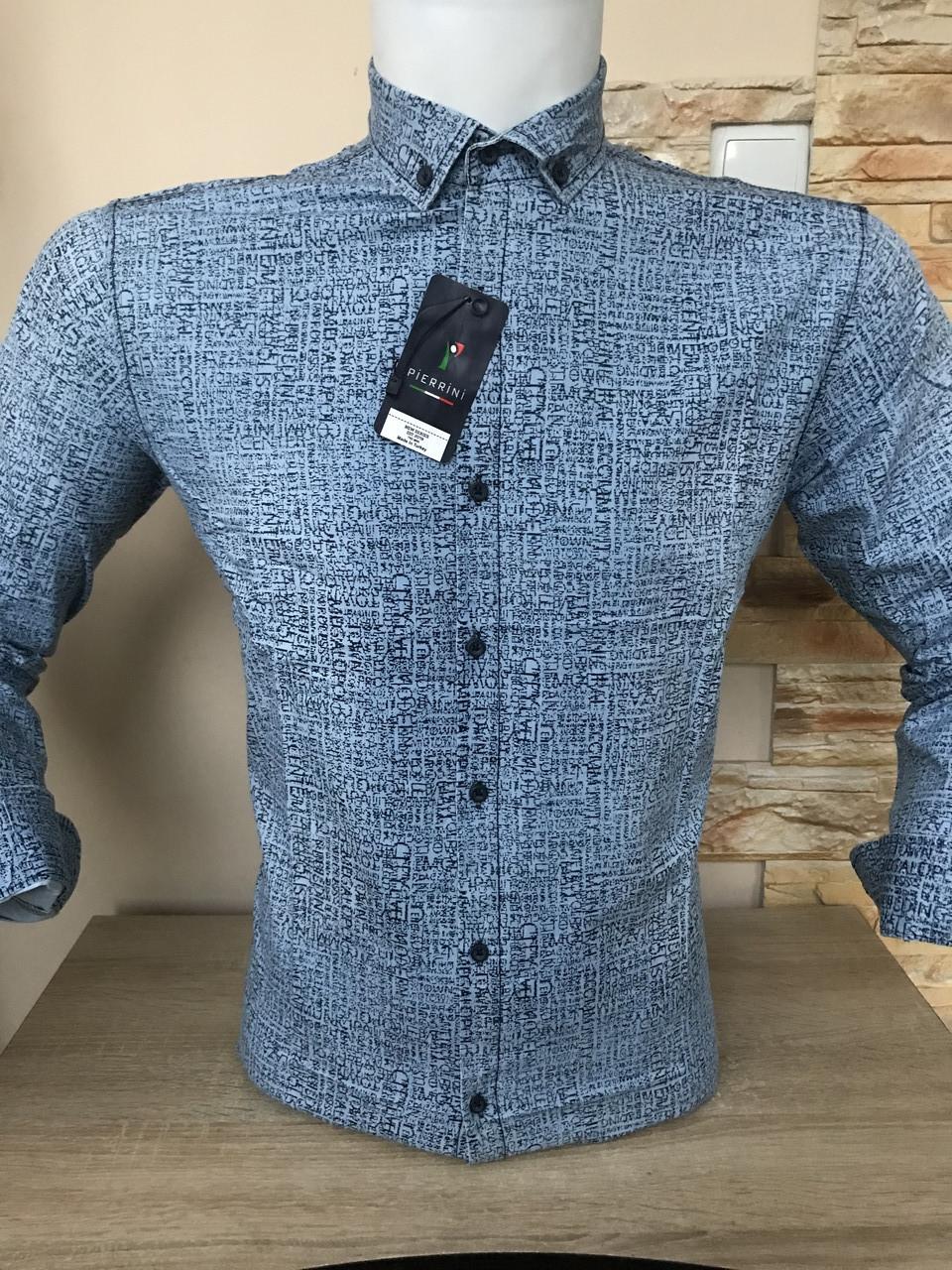 Мужская рубашка джинсовая   Pierrini