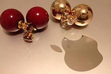 Сережки-пуссети Dior, фото 3