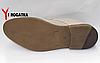 Мужские кожаные туфли Slat летние с каблуком, перфорированные, бежевые, кожаная подкладка, фото 4
