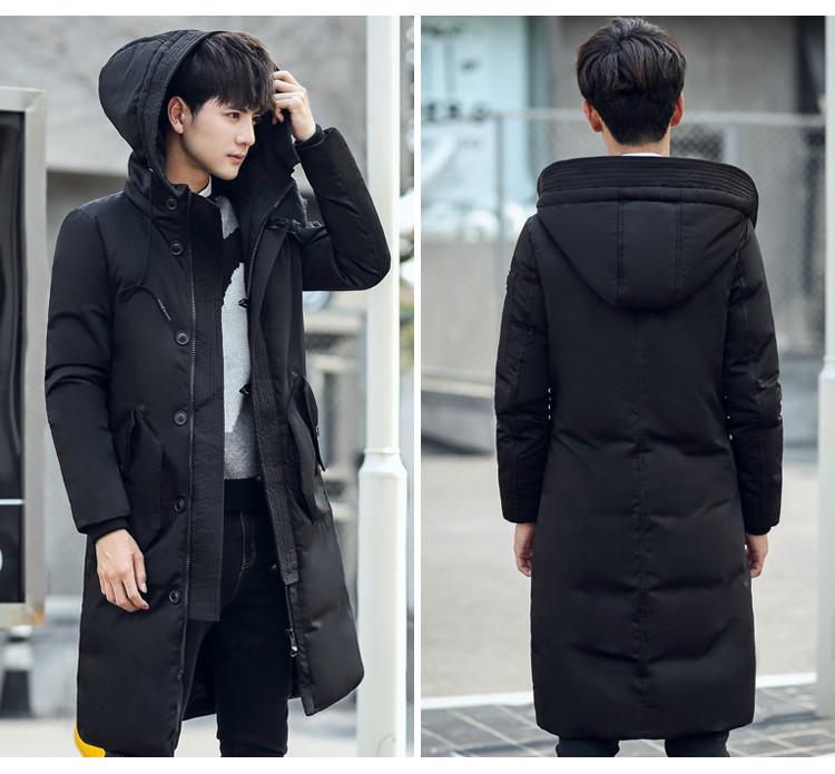 Куртка-пуховик парка удлиненная зимняя унисекс