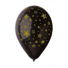 """Воздушный шар золотые звезды 12"""" 30 см Италия поштучно"""