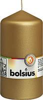 Свеча цилиндр золотистая Bolsius 13 см (70/130-213Б)