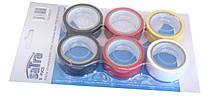 Набор цветных изолент 6 шт. PVC (19 мм x 5 м) SATRA S-PVC5