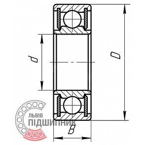 80100 (6000-2Z-C3) [FAG] Подшипник шариковый закрытый, фото 2