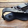 Кобура поясная для Beretta 92 со скобой (кожа), фото 2