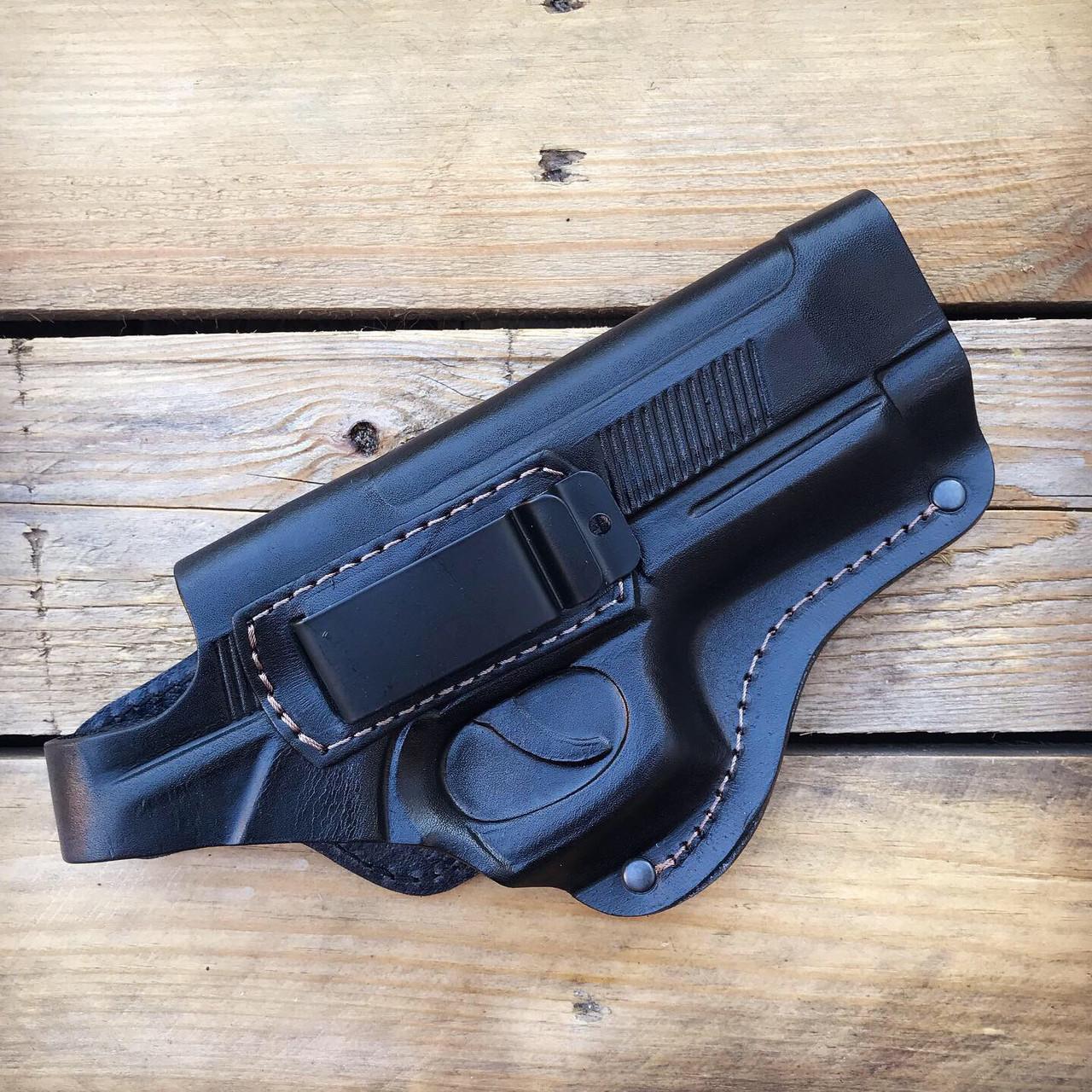 Кобура поясная для Beretta 92 со скобой (кожа)