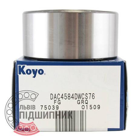 DAC4584DWCS76 [Koyo] Радиально-упорный шарикоподшипник, фото 2