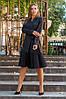 Платье жакет на запах с оборкой плиссе, фото 6