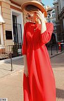 Платье демисезонное с длинным рукавом осеннее колокольчик 42-44 44-46