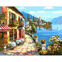 """Картина раскраска по номерам """"Уютное кафе"""" 40Х50см Babylon VP017"""