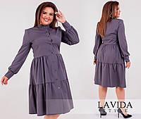 Платье женское свободного покроя на пуговицах в расцветках 50934, фото 1