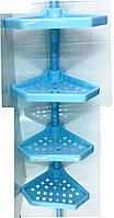 Полка для ванной N 02 пластик голубой