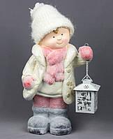 Светящаяся фигурка Мальчик с фонариком, магнезия, 24*21,5*40,5см (920098)