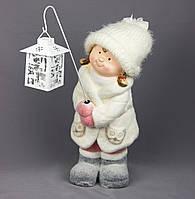 Светящаяся фигурка Девочка с фонариком, магнезия, 17*18,5*40см (920104)