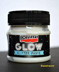 Паста с глиттерами «Glow in the dark», Голубое сияние, 50 мл, Pentart