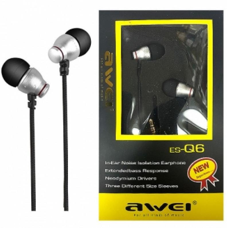 Наушники Awei ES-Q6 Silver