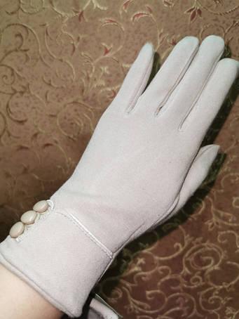 ТРИКОТАЖ С флис женские перчатки (только ОПТ)