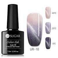 Термо гель-лак кошачий глаз для ногтей маникюра термолак 7.5мл UR Sugar, UR-10