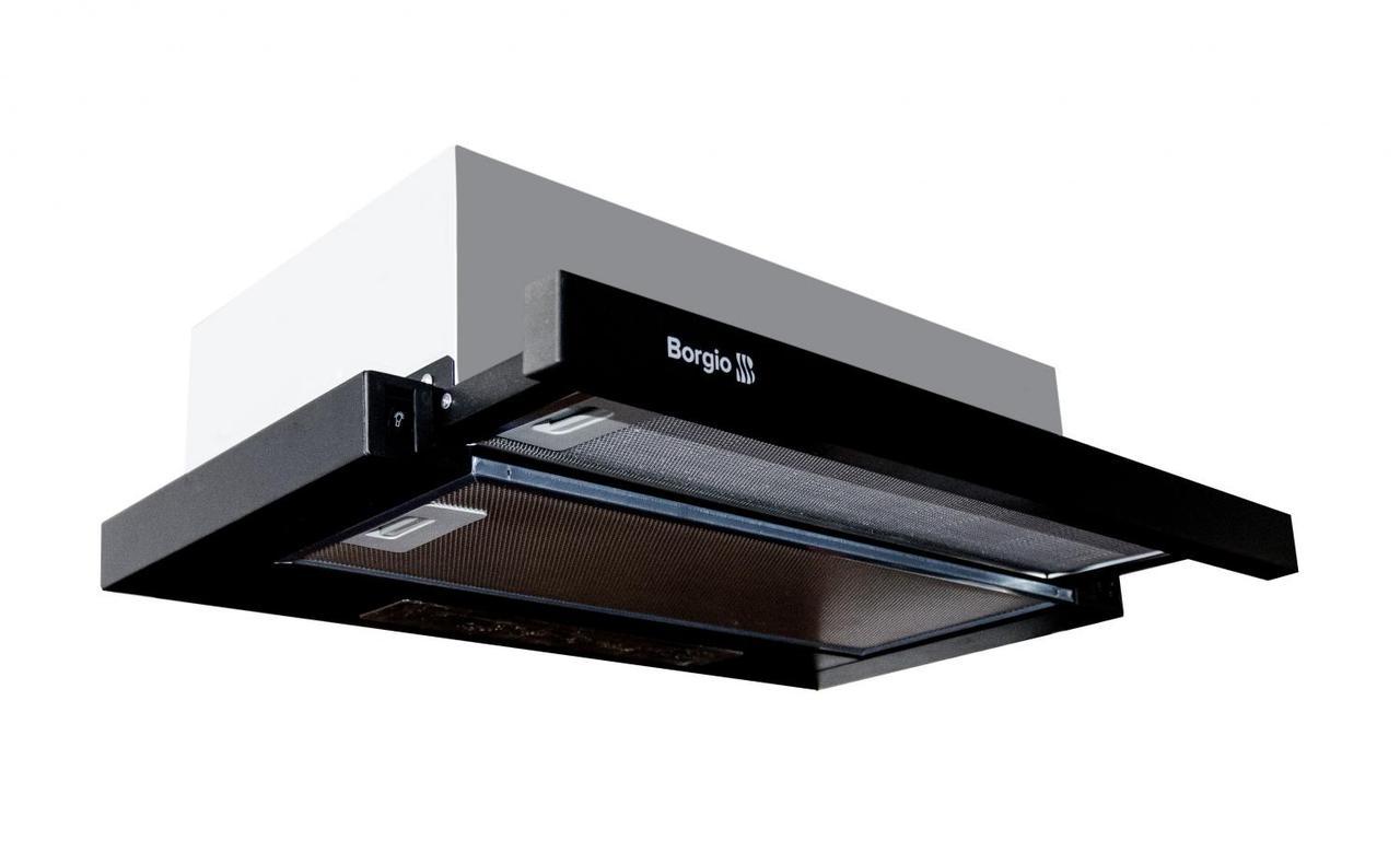 Вытяжка кухонная телескопическая BORGIO SLIM (TR) 50 black