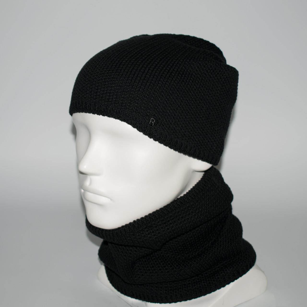 Мужской комплект шапка + бафф (код 00470)