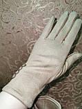 Замш женские перчатки стильные только оптом, фото 2
