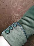 Замш женские перчатки стильные только оптом, фото 3