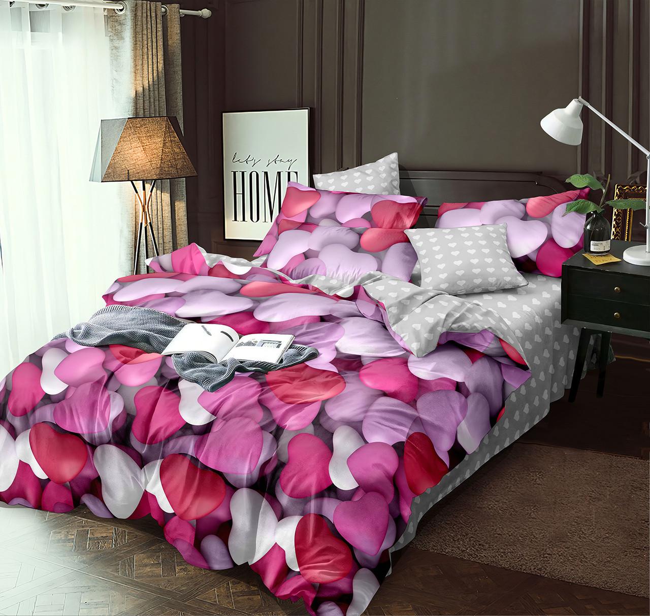 Двуспальный комплект постельного белья 180*220 сатин (12610) TM КРИСПОЛ Украина