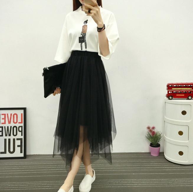 Фатиновые  юбки серая  черная воздушные юбка осень весна фото в  живую
