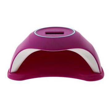 Лампа Led/uv 48W з дисплеєм, SUNQ1 рожева, 24 діода з дисплеєм