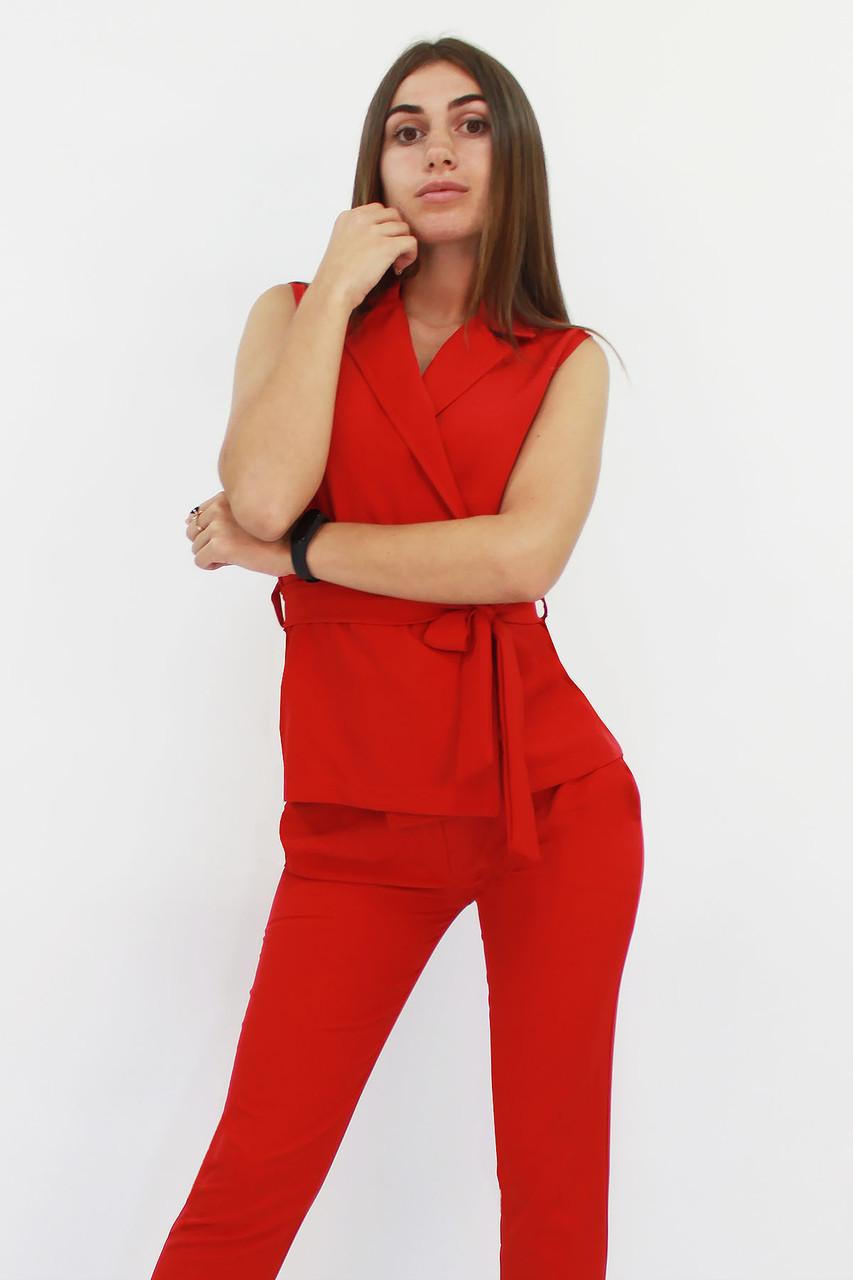 S, M, L, XL / Стильний брючний костюм Archer, червоний