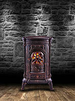 Камин печь буржуйка чугунная Bonro Gold double wall 9 кВт, фото 1