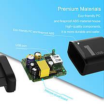 Универсальное сетевое зарядное устройство Rock QC3.0 Quick Charge 18W, фото 3