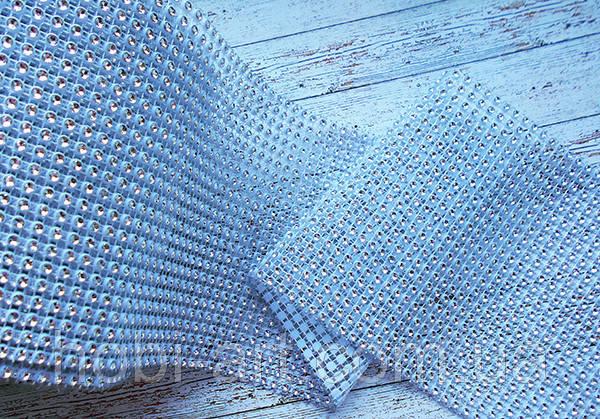 Шина декоративна   №  17 срібна на білому