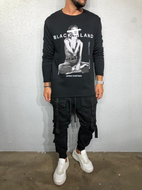 😜 Лонг - Мужской лонг Black Island Open Casting (черный)