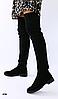 Сапоги-чулки Ботфорты без каблука замшевые черные