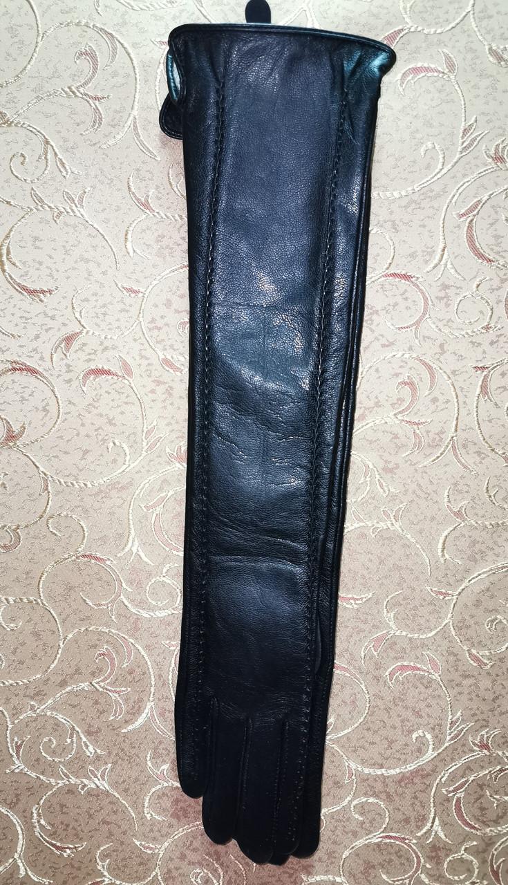 (50cm)Длинные кожа натуральная женские перчатки только оптом