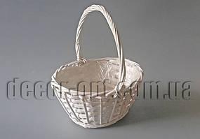 Белая овальная корзина-кашпо YD180305