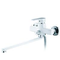 Смеситель для ванны с душем MIXXUS Missouri White(CHR-006 EURO)