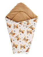 Детский плед одеяло плюшевый  в коляску, люльку 75х100 см, фото 1