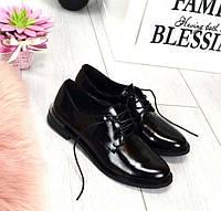Туфли женские без каблука на шнурках Сlassic TOPs1606
