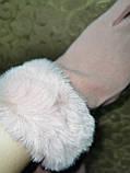 Перчатки матовый кролик с сенсором для работы на телефоне плоншете/Сенсорны женские перчатки  оптом, фото 3