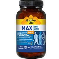 Вітамінно-мінеральний комплекс Max For Men без заліза 120 таблеток ТМ Кантрі Лайф / Country Life