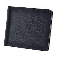 Зажим для купюр портмоне мужской BlankNote BN-PM-1-nn-karbon синий из натуральной кожи с отделениями для карт