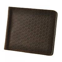 Зажим портмоне мужской BlankNote BN-PM-1-o-karbon коричневый из натуральной кожи с отделениями для карт