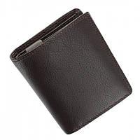 Портмоне кошелек мужское Visconti HT11 - Brixton коричневое кожаное двойного сложения с отделениями для карт