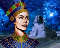 Схема  для вышивки картины бисером Царица Египта