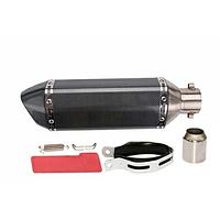 Прямоточный мото глушитель прямоток диаметр 38/51 мм Akrapovic модель Carbon /  (370*105мм)