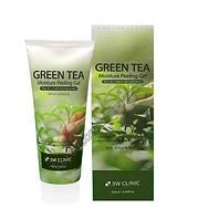 Увлажняющий пилинг-гель с экстрактом зеленого чая 180мл 3W Clinic Green Tea Moisture