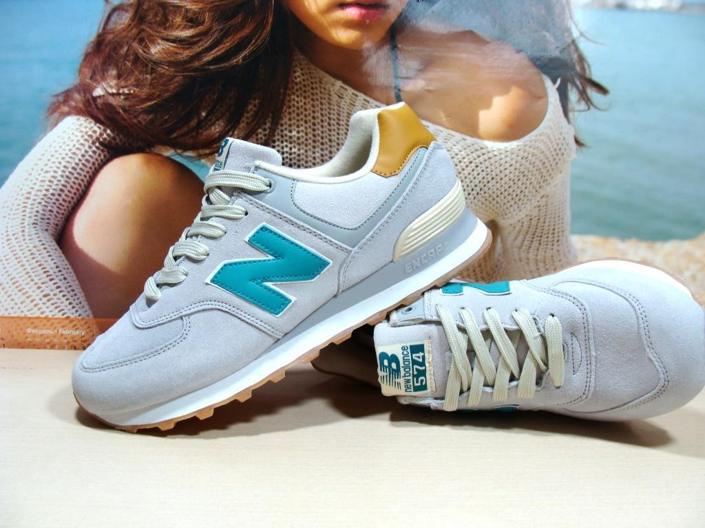 Мужские кроссовки New Balance 574 (реплика) светло-серые 43 р.